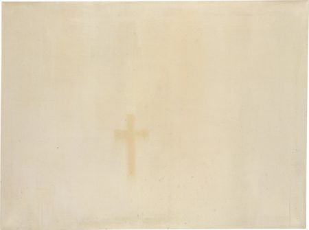 Rafal Bujnowski-Untitled (Cross from Traces of Paintings)-2005