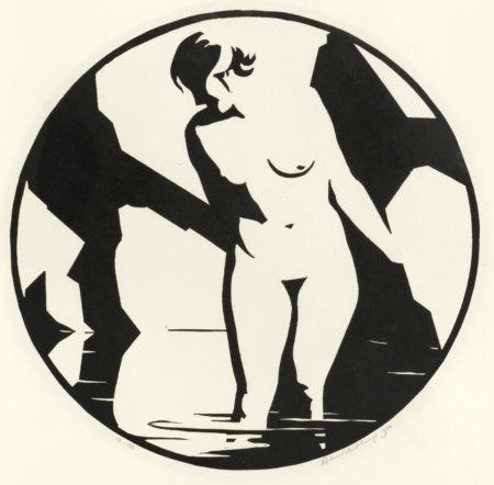 Robert Gibbings-Nude in Pool-1920