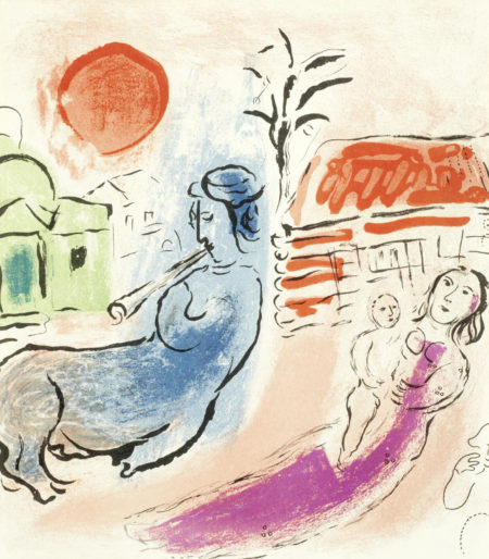 Marc Chagall-Maternity with Centaur-1957