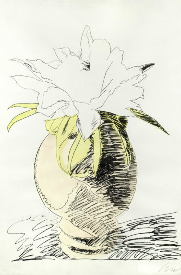 Andy Warhol-One plate, from 'Flowers'-1974