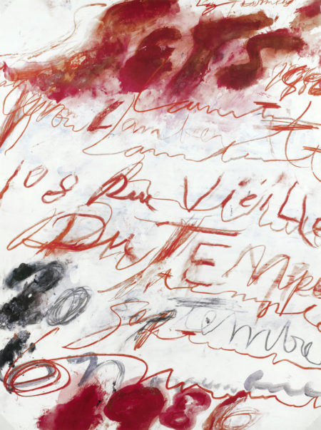 After Cy Twombly - Untitled-1986