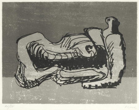 Henry Moore-Reclining Figure, from 'San Lazzaro et ses Amis'-1975