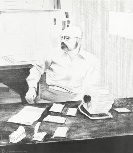 Sidney in his office-1976