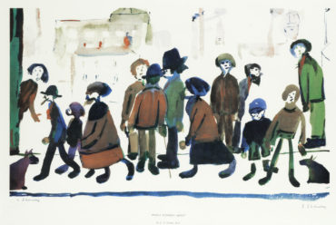 Laurence Stephen Lowry-People Standing About-1972