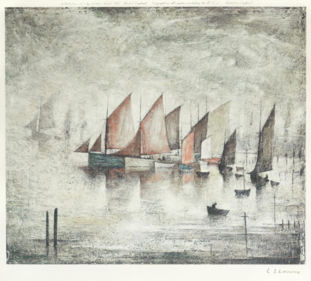 Laurence Stephen Lowry-Sailing Boats-1972