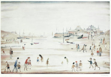 Laurence Stephen Lowry-On The Sands