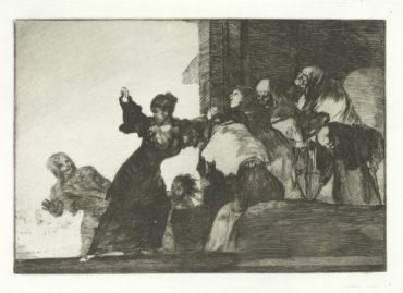 Francisco de Goya-Disparate Pobre, plate 11 from Los Proverbios