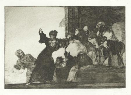 Francisco de Goya-Disparate Pobre, plate 11 from Los Proverbios-