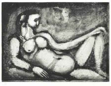 Courtisane nue, Plate VI from 'Quatorze Planches Gravees Pour Les Fleurs Du Mal'-1927