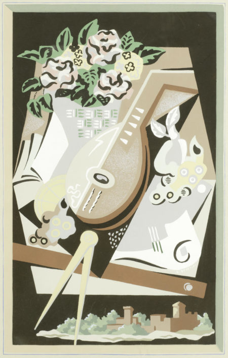 Gino Severini-Nature Morte au Compas (Still Life with Compass), from 'Fleurs et Masques'-1930