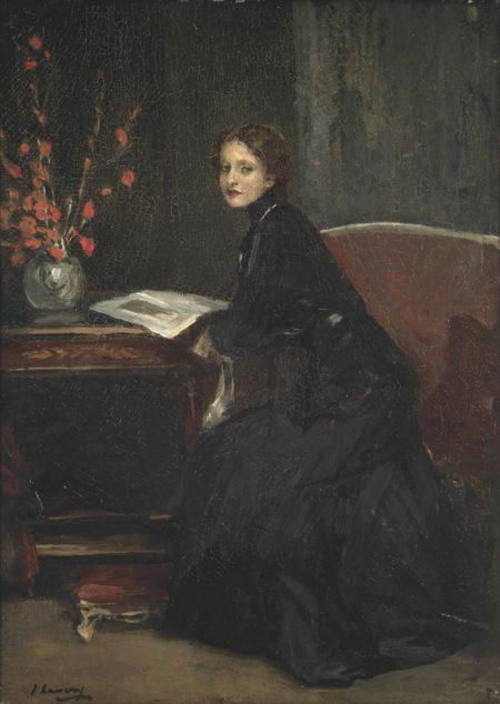 John Lavery-Mary Black-Hawkins reading-