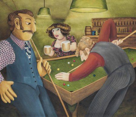 Beryl Cook-Bar Billiards-