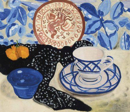 Simon Albert Bussy-Blue and white teacup-