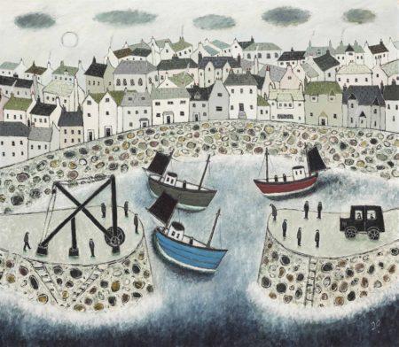 Joan Gillchrest-Mousehole Harbour-