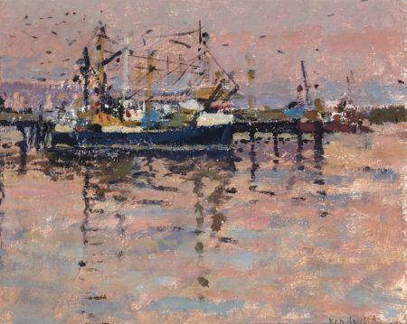 Ken Howard-Fishing boats in the harbour-