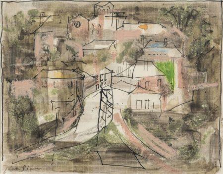 John Piper-Landscape II-1957