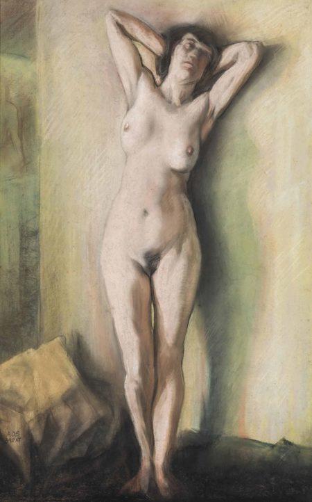 Austin Osman Spare-Standing female nude-1934