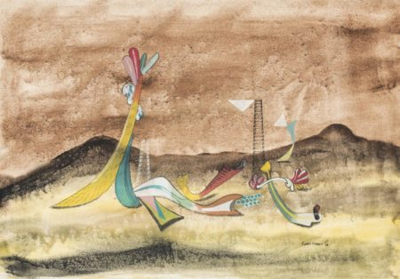 Conroy Maddox-Objects in a Landscape-1940