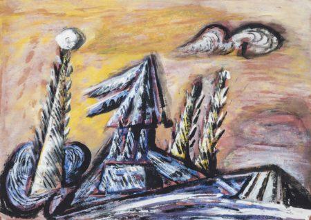 Cecil Collins-Blue Landscape-1953