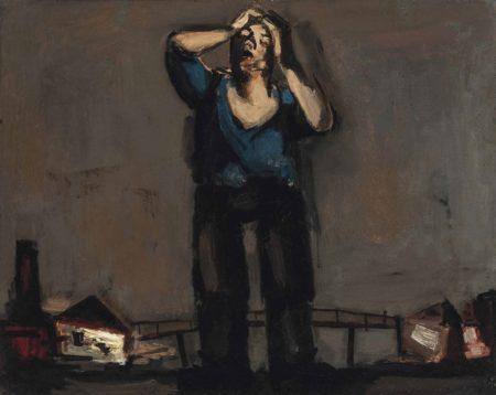 Josef Herman-Tired Miner-1947