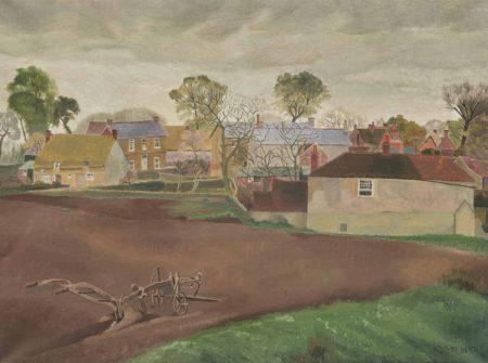Gilbert Spencer-Ploughed Land, Garsington-1925