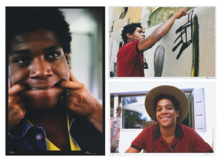 Lee Jaffe-Untitled (Jean-Michel Basquiat, Bullet Train 3); Untitled (Jean-Michel St. Moritz); & Untitled (Jean-Michel Basquiat, Working 1)-1983
