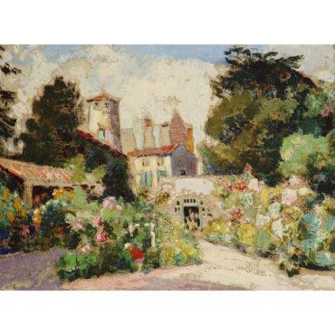 Victor Charreton - Jardin A Saint Saturnin