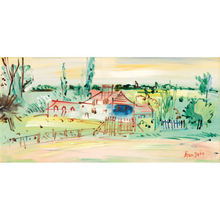 Jean Dufy-Paysage A La Ferme-