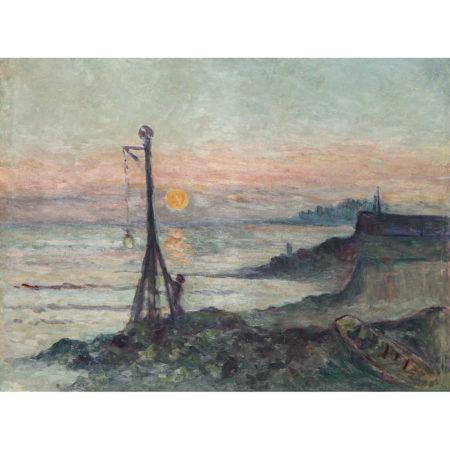Maximilien Luce-Le Semaphore Au Soleil Couchant, Vers-1930