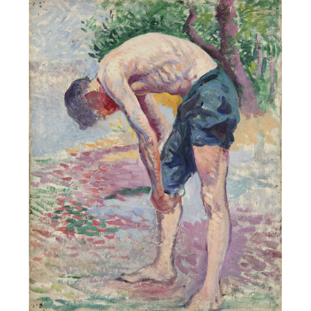 Maximilien Luce-Homme Penche, Vers-1910-1900