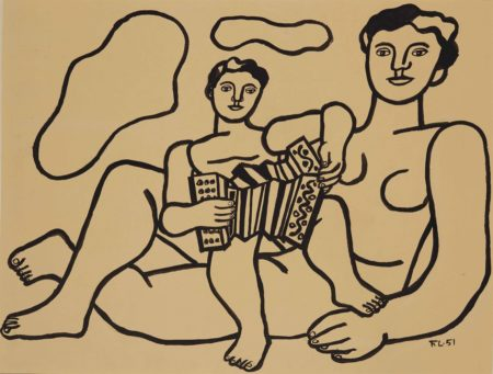 Fernand Leger-L'enfant a l'accordeon-1951