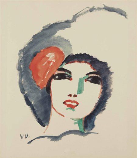 Kees van Dongen-Visage de femme-1910