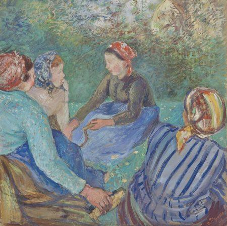 Camille Pissarro-Paysannes au repos-1883