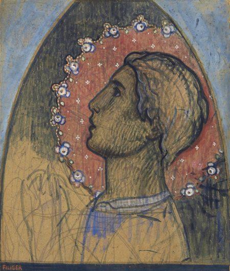 Charles Filiger-Tete de saint ou Saint sous une ogive-1893