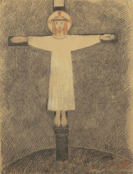 Paul Serusier-Etude pour 'Le Christ de Sainte-Hildegarde'-1895