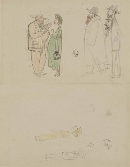 Georges Lacombe-Portraits de Paul Serusier, Marguerite Serusier, Ker-Xavier Roussel, Pierre Bonnard et Edouard Vuillard-1912