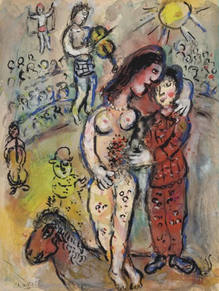 Marc Chagall-Le nu au cirque-1980