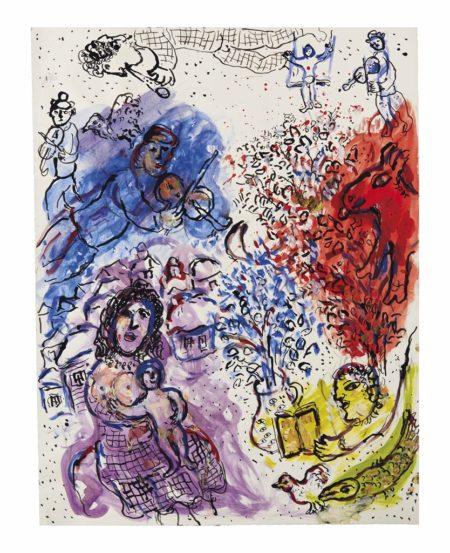 Marc Chagall-La maternite celebree par le village-1977