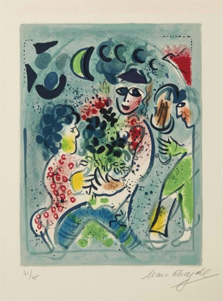 Marc Chagall-Frontispice pour: Chagall lithographe 1962-1968-1969