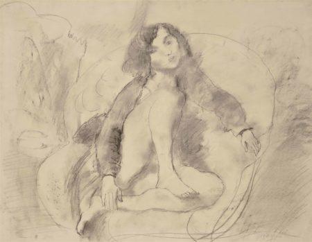 Jules Pascin-Rebecca dans un fauteuil-1929