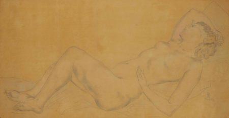 Tsuguharu Foujita-Madeleine endormie-1931