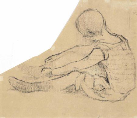 Paul Gauguin-Petite fille assise-1885