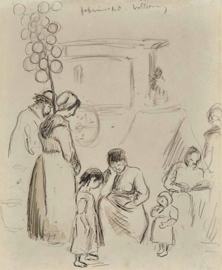 Camille Pissarro-Scene de rue-