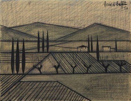 Bernard Buffet-Paysage-1950