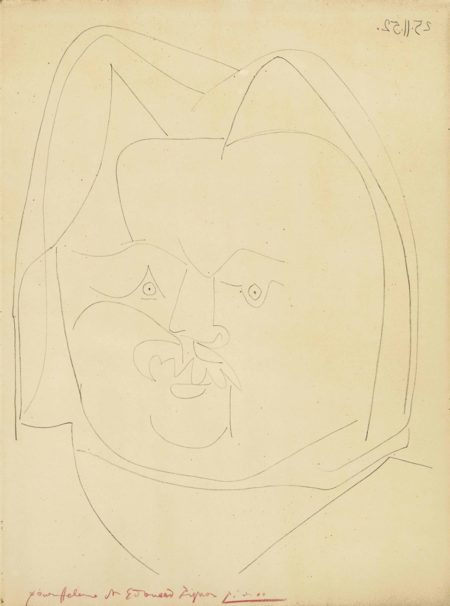 Pablo Picasso-Portrait de Balzac-1952