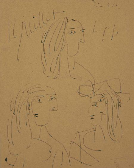 Pablo Picasso-Trois tetes de Dora Maar-1941