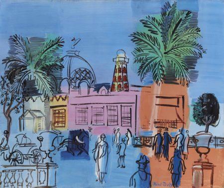 Raoul Dufy-Le Casino de Nice aux palmiers et aux vasques-1926