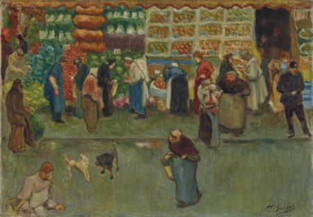 Henri-Gabriel Ibels-Scene de marche a Paris-1900