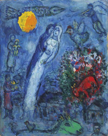 Marc Chagall-Fete nocturne pour les maries-1970
