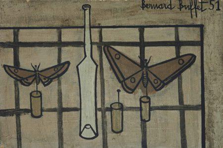 Bernard Buffet-Papillons et bouteille-1951
